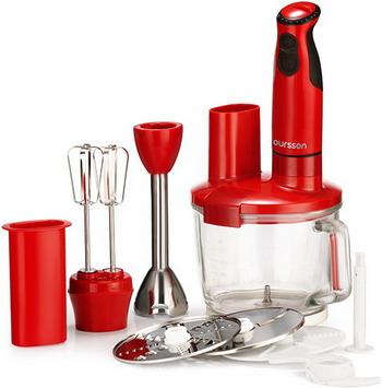 Погружной блендер Oursson HB 4040/RD (Красный)