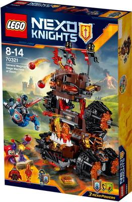 Конструктор Lego Nexo Knights Роковое наступление Генерала Магмара 70321 lego lego nexo knights 70331 мэйси – абсолютная сила