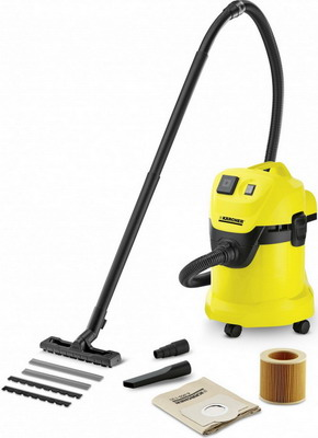 Строительный пылесос Karcher WD 3 P желтый  пылесос karcher wd 3 p 1 629 880 0