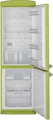 Двухкамерный холодильник Schaub Lorenz SLUS 335 G2 ярко-салатовый  цена и фото