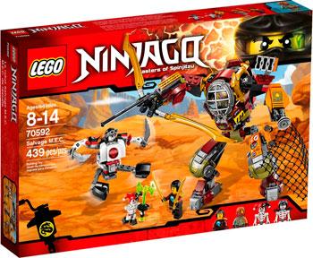 Конструктор Lego NINJAGO РОБОТ-СПАСАТЕЛЬ 70592 конструктор lego ninjago 70633 кай мастер кружитцу