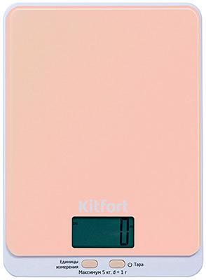 Кухонные весы Kitfort КТ-803-3 бежевые пароочиститель kitfort кт 918 3 бирюзовый
