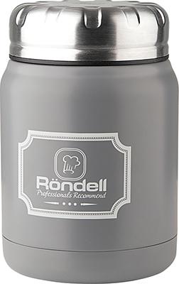 Термос для еды Rondell Grey Picnic RDS-943 0 5 л термокружка 0 5 л rondell ultra grey rds 231