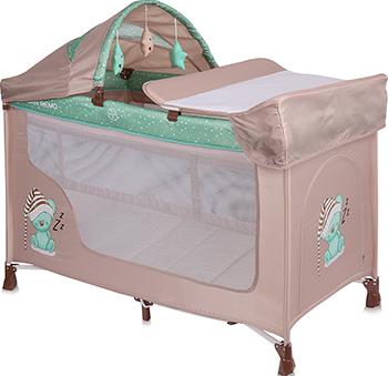цена на Манеж-кровать Lorelli San Remo 2 Plus Бежево-зеленый / Beige&Green Sleeping Bear 10080081802