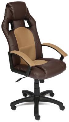 Кресло Tetchair DRIVER (кож/зам/ткань коричневый/бронза 36-/21)