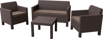 Комплект мебели Allibert Orlando small коричневый 17202809/КОР комплект мебели allibert corona set with cushion box капучино 17198017