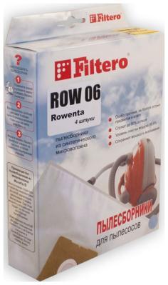 Набор пылесборников Filtero ROW 06 (4) экстра набор пылесборников filtero brk 01 3 экстра