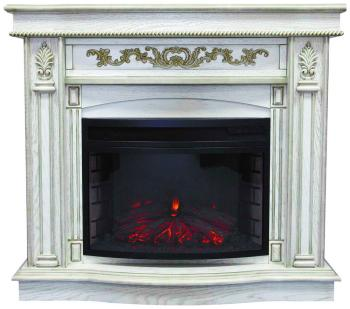 Каминокомплект Royal Flame Cardinal с очагом Dioramic 25 FX (дуб белый с пат.зол) (64905286) каминокомплект royal flame alexandria с очагом majestic fx brass rb std3brfx белый дуб
