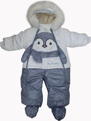 Комбинезон Fox-cub Джинс 1 для девочки (Р. 86) Белый fox джинсы для девочек голубой джинс