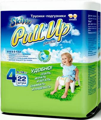 Трусики-подгузники Skippy Pull Up р-р4 (9-14кг) 22 шт подгузники skippy premium р р 3 4 9 кг 84 шт