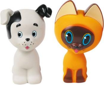 Набор игрушек для купания ИГРАЕМ ВМЕСТЕ Котенок Гав и щенок