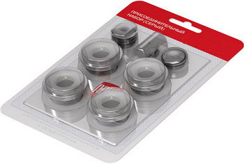 Присоединительный набор Royal Thermo RT 03-2 серебристый коллектор royal thermo с регулировочными вентилями 3 4x1 2 2 выхода rto 62002