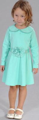 Платье Fleur de Vie 24-2300 рост 110 св. зеленый