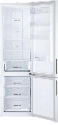 Двухкамерный холодильник Daewoo RNV 3610 WCH белый холодильник daewoo fgk51efg двухкамерный серебристый