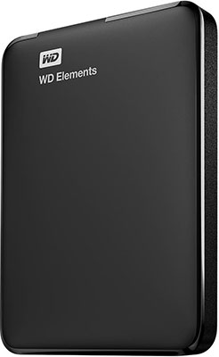 Внешний жесткий диск (HDD) Western Digital Original USB 3.0 1Tb WDBUZG 0010 BBK-WESN Elements Portable 2.5'' черный portable digital usb microscope in built white light 8pcs led magnifier