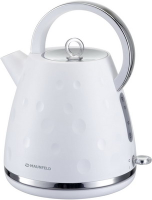 Чайник электрический MAUNFELD MFK-647 WH белый с хромированными элементами чайник электрический maunfeld mfk 661 ch вишневый с перламутром