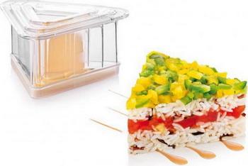 цена Формочки для придания блюдам формы Tescoma PRESTO FoodStyle треугольники 3шт 422216