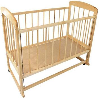 Детская кроватка Уренская мебельная фабрика Мишутка-12 колесо-качалка  автостенка  Светлый