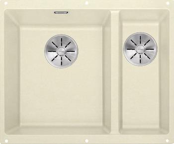 Кухонная мойка BLANCO SUBLINE 340/160-U SILGRANIT жасмин (чаша слева) с отв.арм. InFino 523553 кухонная мойка blanco subline 340 160 u silgranit жемчужный чаша слева с отв арм infino 523551
