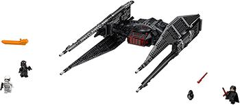 Конструктор Lego Star Wars Истребитель СИД Кайло Рена 75179-L lego 75104 командный шаттл кайло рена