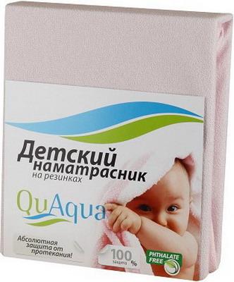 Наматрасник QuAqua Caress 65х125 розовый (690900) наматрасники forest непромокаемый натяжной наматрасник caress махра 120х60 см