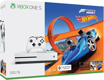 Игровая приставка Microsoft One S 500 ГБ + Forza Horizon 3 + DLC (ZQ9-00212) игровая приставка microsoft xbox one s 500gb белая forza horizon 3 dlc zq9 00212
