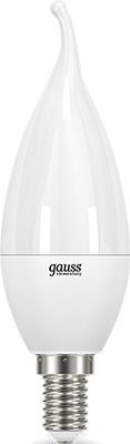 Лампа GAUSS LED Elementary Candle Tailed 8W E 14 4100 K 1/10/50 лампа gauss led elementary candle 10 w e 14 4100 k 33120