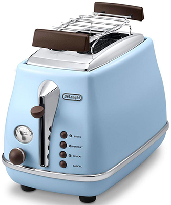 Тостер DeLonghi CTOV 2103.AZ голубой чайник delonghi kbov 2001 az