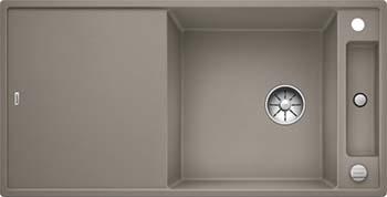 Кухонная мойка BLANCO AXIA III XL 6 S InFino Silgranit серый беж ( столик ясень) 523507 кухонная мойка blanco axia iii xl 6 s infino silgranit мускат столик ясень 523508