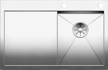 Кухонная мойка BLANCO ZEROX 4S-IF/А (чаша справа) нерж. сталь зеркальная полировка с клапаном-автоматом 521621 мойка кухонная blanco zenar 45s чаша справа белый с клапаном автоматом 519255