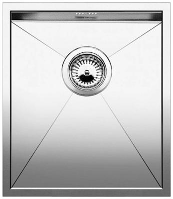 Кухонная мойка BLANCO ZEROX 340-U нерж. сталь зеркальная полировка без клапана авт 521583 blanco zerox 450 u нерж сталь зеркальная