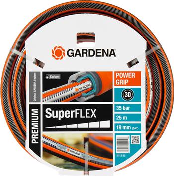 """Шланг садовый Gardena SuperFLEX 19 мм (3/4'') 25 м 18113-20 шланг поливочный claber aquaviva диаметр 3 4"""" длина 25 м"""
