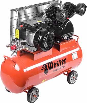 Компрессор WESTER B 050-220 OLB компрессор wester w 050 180 olc поршневой масляный 1800 вт 260л мин 8бар