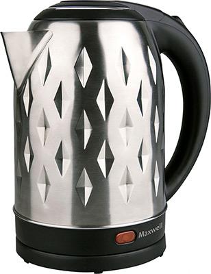 Чайник электрический Maxwell MW-1084 ST чайник электрический maxwell mw 1066 b 1850 вт синий чёрный 1 7 л нержавеющая сталь