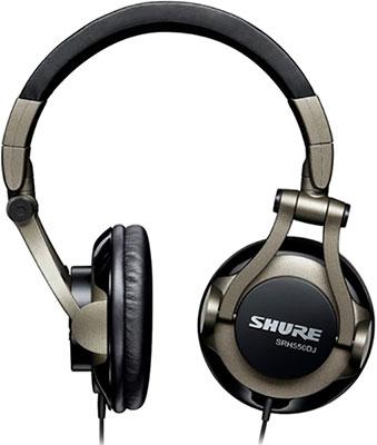 Накладные наушники Shure SRH 550 DJ-EFS черный shure cvb w o