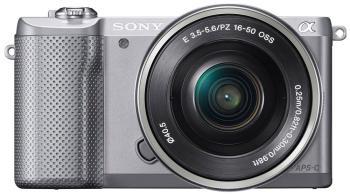 Цифровой фотоаппарат Sony Alpha ILCE-5000 Kit 16-50 серебро фотоаппарат sony alpha ilce 7k kit 24 3mp черный с объективом np fw50