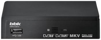 Цифровой телевизионный ресивер BBK SMP 014 HDT2 темно-серый