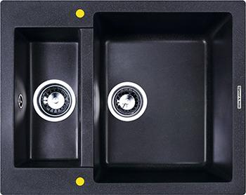 Кухонная мойка Zigmund amp Shtain RECHTECK 600.2  темная скала кухонная мойка zigmund amp shtain eckig 800 черный базальт