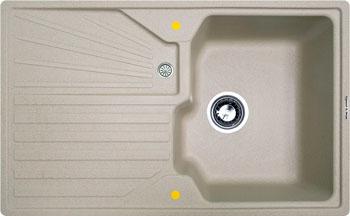 Кухонная мойка Zigmund amp Shtain KASKADE 800 речной песок кухонная мойка zigmund amp shtain eckig 800 черный базальт
