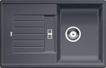 Кухонная мойка BLANCO ZIA 45 S SILGRANIT темная скала кухонная мойка ukinox stm 800 600 20 6