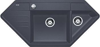 Кухонная мойка BLANCO LEXA 9E SILGRANIT темная скала с клапаном-автоматом  blanco lexa 9 e аллюметаллик