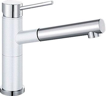 Кухонный смеситель BLANCO ALTA-S Compact хром/белый blanco alta s compact двухцветный шампань