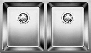 Кухонная мойка BLANCO ANDANO 340/340-U нерж.сталь полированная без клапана-автомата blanco statura 160 u
