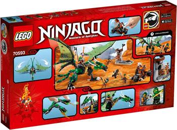 Конструктор Lego NINJAGO ЗЕЛЁНЫЙ ДРАКОН 70593 конструктор lego ninjago 70633 кай мастер кружитцу