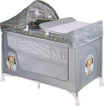 цена на Манеж-кровать Lorelli San Remo 2 Plus Серый / Grey Cute Kitten 10080081805