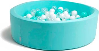 Бассейн сухой Hotnok ''Мятная жвачка'' 200 шариков (мятный белый прозрачный) sbh 018