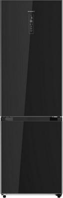 Двухкамерный холодильник Kraft KF-MD 410 BGNF черное стекло шторки sapfire car curtain 37х44 sca 0002s