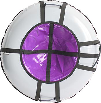 Тюбинг Hubster Ринг Pro серый-фиолетовый (120см) ВО4365-3 цена 2017