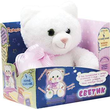 Мягкая игрушка Dream makers Котик-светик KFR 01 M карман на кроватку bombus светик розовый