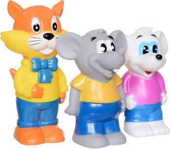 Набор игрушек для купания ИГРАЕМ ВМЕСТЕ Кот Леопольд и 2 мышонка